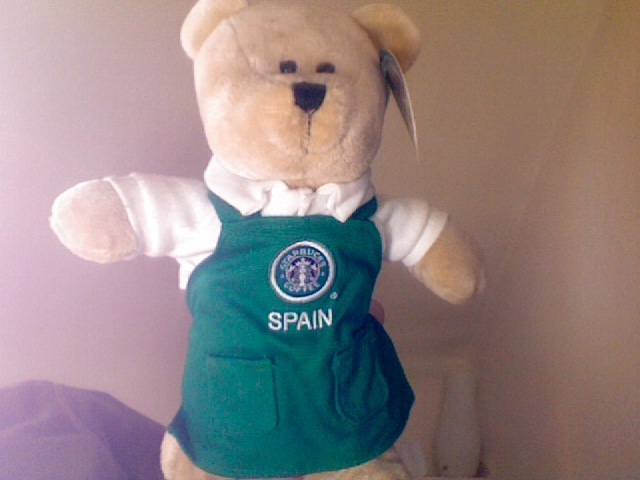 Spain bearista green apron